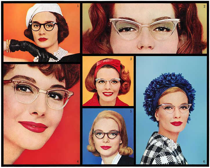 Retro sunglasses 1950 Collage