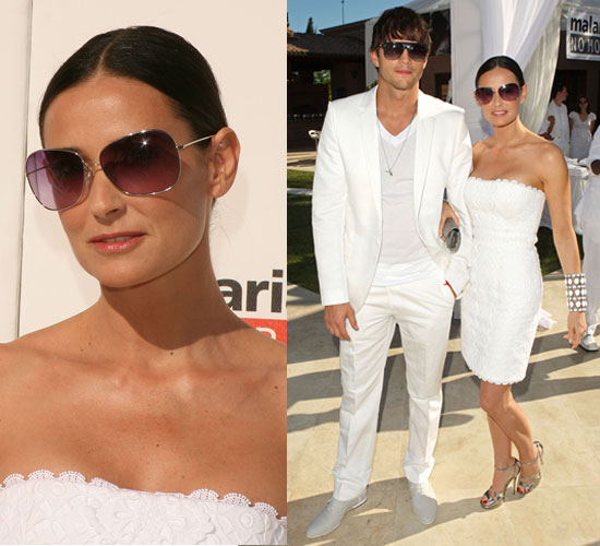 Demi Moore and Ashton Kutcher wearing sunglasses 2011