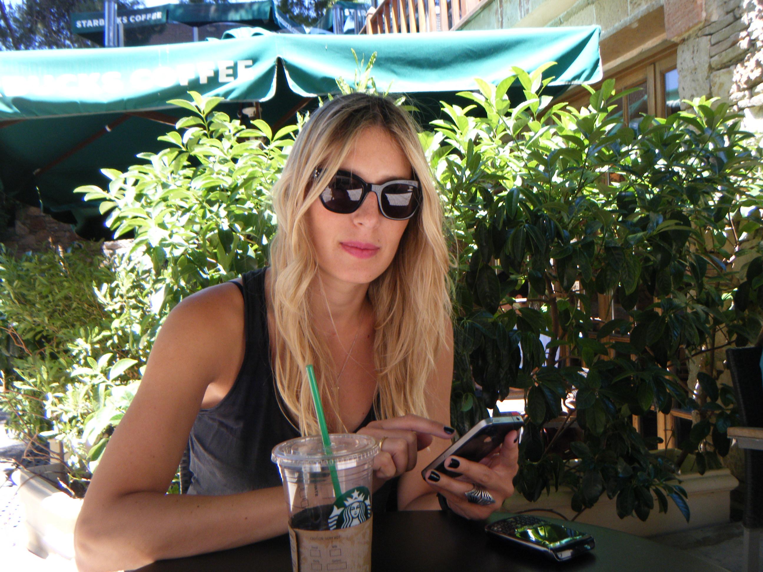 Dania Stavraka-Gerogianni wearing Celine sunglasses