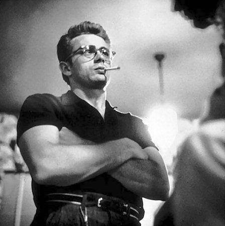 James Dean with trendy glasses